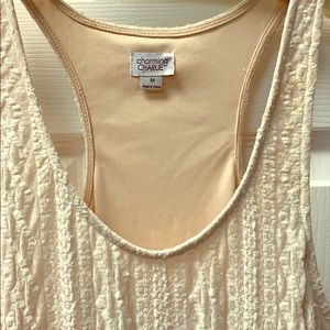 CHARMING CHARLIE lace maxi dress sleeveless
